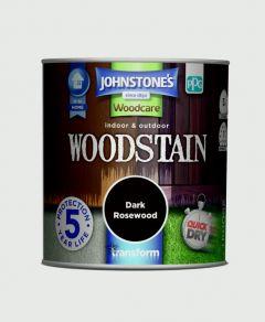 Johnstone's Indoor & Outdoor Woodstain 250ml Dark Rosewood