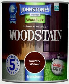 Johnstone's Indoor & Outdoor Woodstain 750ml Walnut