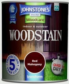 Johnstone's Indoor & Outdoor Woodstain 750ml Red Mahogany