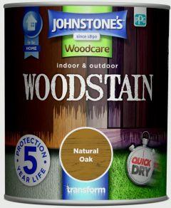 Johnstone's Indoor & Outdoor Woodstain 750ml Natural Oak