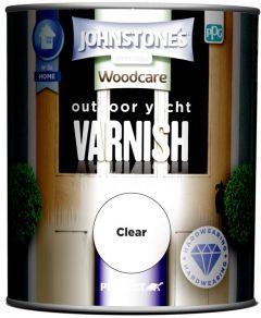 Johnstone's Outdoor Yacht Varnish Gloss 750ml Clear Gloss