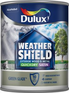 Dulux Weathershield Quick Dry Exterior Satin 750Ml Green Glade