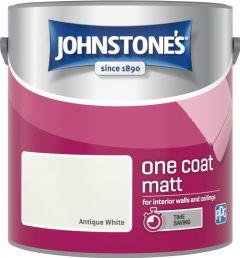 Johnstone's One Coat Matt 2.5L Antique White