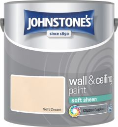 Johnstone's Wall & Ceiling Soft Sheen 2.5L Soft Cream