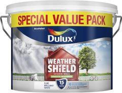 Dulux Weathershield Smooth Masonry Paint 7.5L Pure Brilliant White
