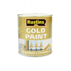 Rustins Quick Dry Paint Gold 500Ml