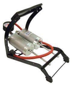 Streetwize Foot Pump Deluxe Double Barrel