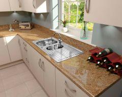 Supaplumb Reversible 1.5 Bowl Sink With Monoblock Tap