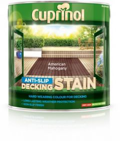 Cuprinol Anti Slip Decking Stain 2.5L American Mahogany