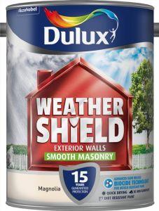 Dulux Weathershield Smooth Masonry Paint 5L Magnolia