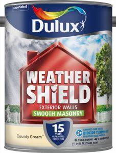 Dulux Weathershield Smooth Masonry Paint 5L County Cream