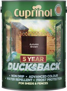 Cuprinol Ducksback 5L Autumn Brown