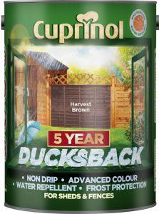 Cuprinol Ducksback 5L Harvest Brown