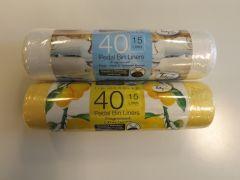 Tidyz Pedal Bin Liners 15L Roll Of 40