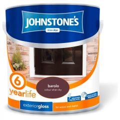 Johnstone's Exterior Hardwearing Gloss 2.5L Barolo