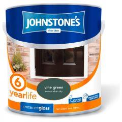 Johnstone's Exterior Hardwearing Gloss 2.5L Vine Green