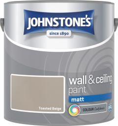 Johnstone's Wall & Ceiling Matt 2.5L Toasted Beige