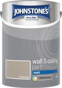 Johnstone's Wall & Ceiling Matt 5L Toasted Beige