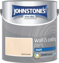 Johnstone's Wall & Ceiling Matt 2.5L Soft Cream