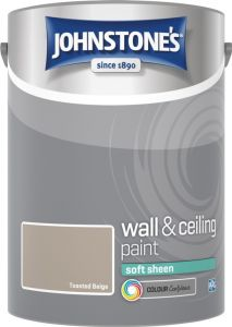 Johnstone's Wall & Ceiling Soft Sheen 5L Toasted Beige