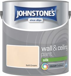 Johnstone's Wall & Ceiling Silk 2.5L Soft Cream