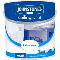 Johnstone's Ceiling Paint 2.5L Brilliant White