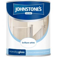 Johnstone's Non Drip Gloss - Brilliant White 750Ml
