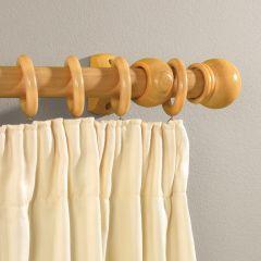 Supadec Beech Effect Wooden Curtain Pole 150Cm 28Mm Diameter