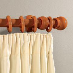 Supadec Walnut Effect Wooden Curtain Pole 150Cm 28Mm Diameter