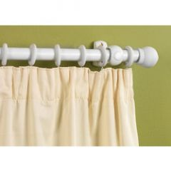 Supadec White Finish Wooden Curtain Pole 240Cm 28Mm Diameter