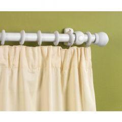 Supadec White Finish Wooden Curtain Pole 300Cm 28Mm Diameter