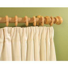 Supadec Wooden Curtain Pole Beech Effect 300Cm 28Mm Diameter