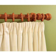 Supadec Walnut Effect Wooden Curtain Pole 300Cm 28Mm Diameter