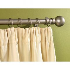 Supadec Silver Metal Extending Curtain Pole 120Cm-210Cm 16-19Mm Diameter