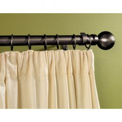 Supadec Black Metal Extending Curtain Pole 180Cm-300Cm 16-19Mm Diameter