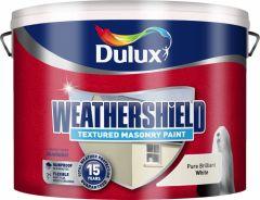 Dulux Weathershield Textured Masonry 10L Pure Brilliant White