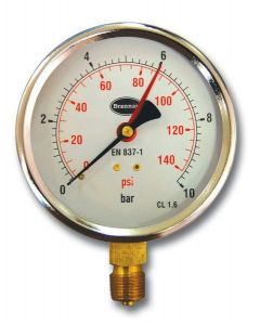 Brannan 34/655 pressure gauge 100mm 0-10bar