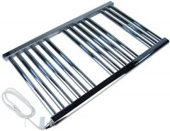 Wolseley Own Brand Center electric straight towel warmer 800 x 500mm Chrome