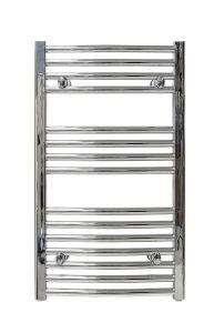 Wolseley Own Brand CenterRail curved towel warmer 862 x 600mm Chrome