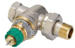 Danfoss RA-DV pressure independent TRV DN15 Angled