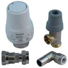 Siemens thermostatic radiator valve including push fit elbow 10 mm