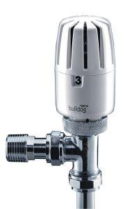 Yorkshire Bulldog 2 thermostatic radiator valve and lockshield drain-off valve pack 15mm