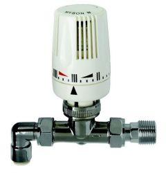 Myson straight thermostatic radiator valve 10mm Chrome
