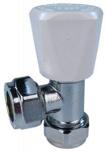 Pegler Yorkshire Mercia radiator valve wheel-head and lockshield 15mm Chrome
