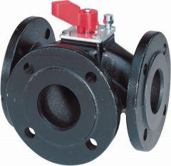 Siemens VBF21.50 3-port flange valve 65mm kV=40