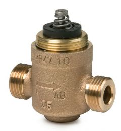 Siemens VVP47.15-2.5 2-port fan coil unit valve 3/4'' kV=2.5