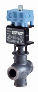 Siemens MXG461 3 port valve and actuator 25mm kv=8.0