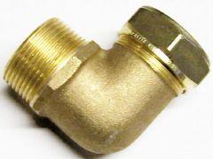 Pegler Yorkshire Kuterlite K916 90deg male elbow 35mm x 1.1/4