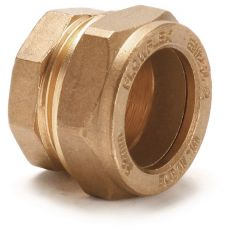 Wolseley Own Brand Center Center Brand compression stop end 15mm