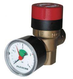 Flamco Flexcon Prescomano combination safety valve and pressure gauge 1/2